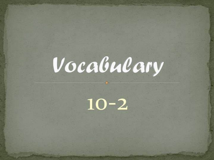 vocabulary n.