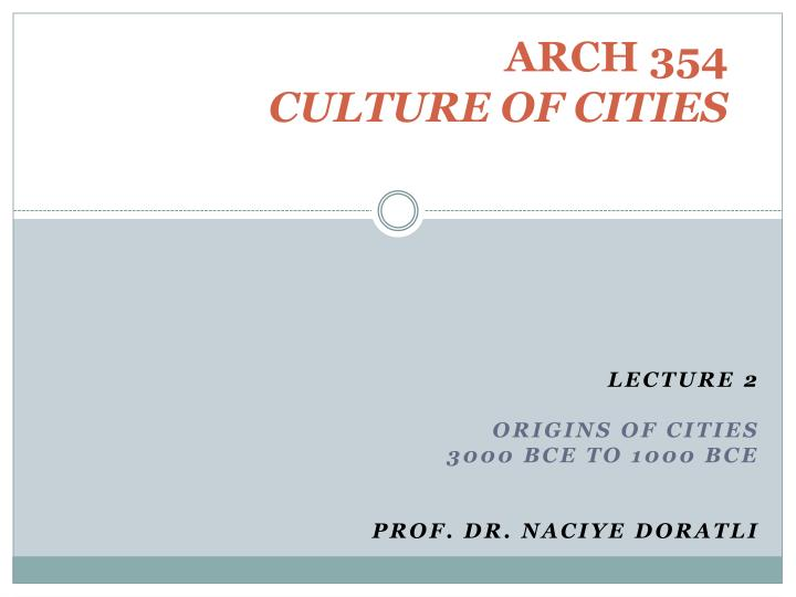 arch 354 culture of cities n.