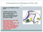 contemporary glimpses of the city