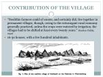 contribution of the village1