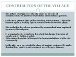 contribution of the village5
