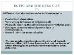 egypt and the open city