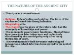 the nature of the ancient city