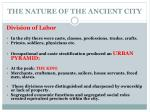 the nature of the ancient city1