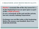 urbanism and monumentality1