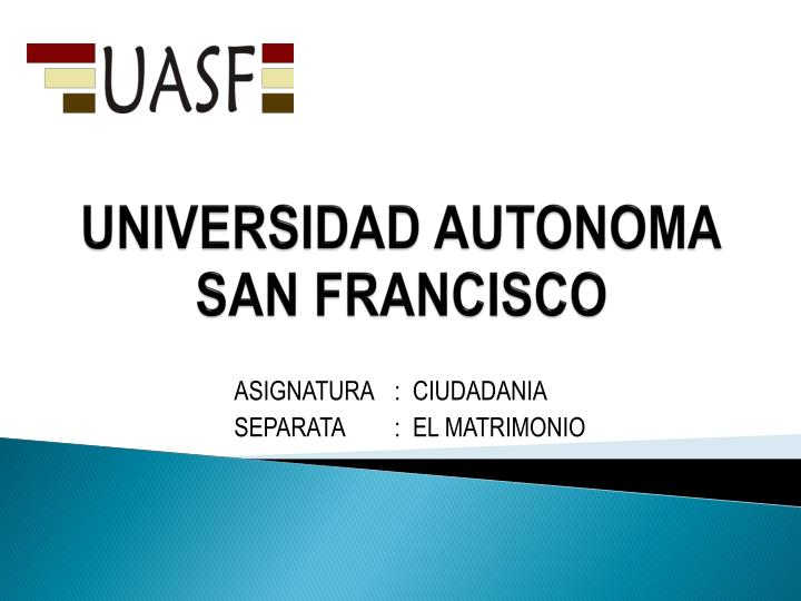 universidad autonoma san francisco n.