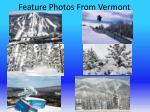 feature photos from vermont