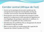corridor central afrique de l est
