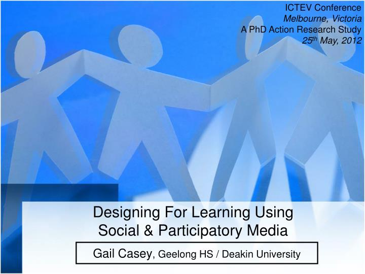 designing for learning using social participatory media n.