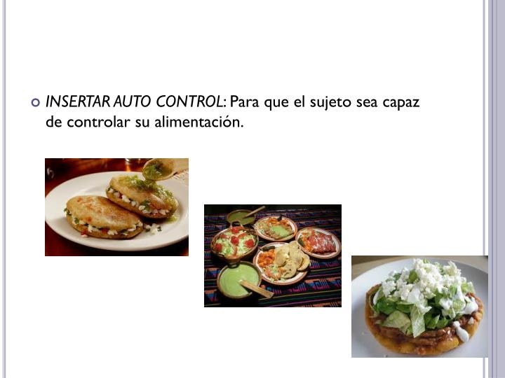 INSERTAR AUTO CONTROL