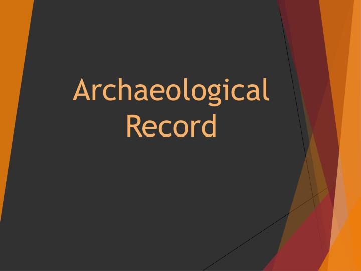 archaeological record n.