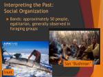 interpreting the past social organization