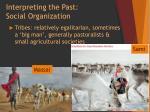 interpreting the past social organization1