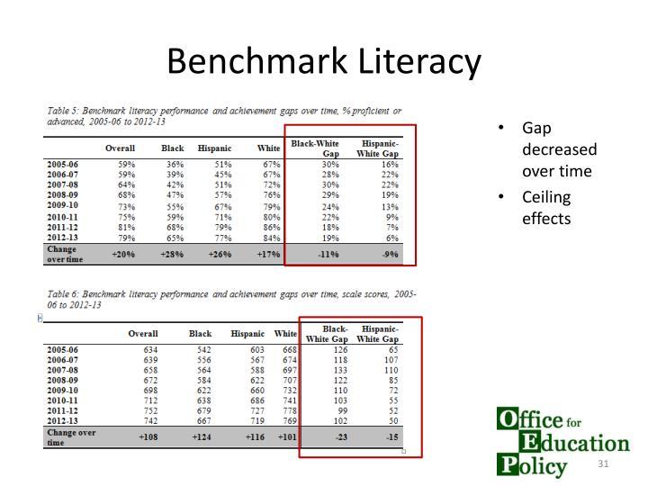 Benchmark Literacy