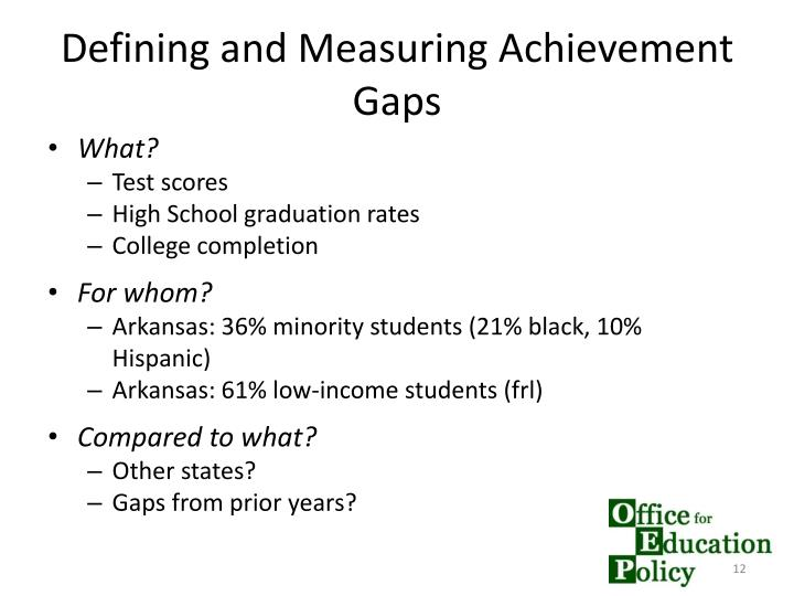 Defining and Measuring Achievement Gaps