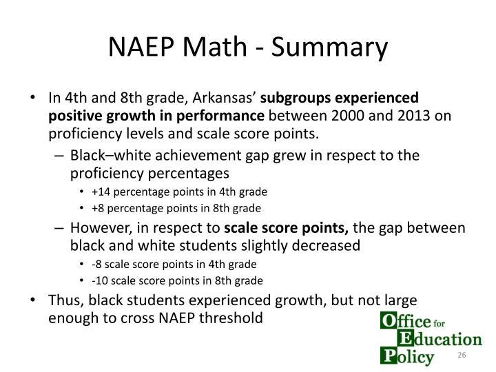 NAEP Math - Summary