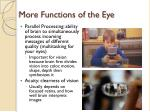 more functions of the eye