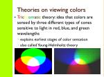 theories on viewing colors