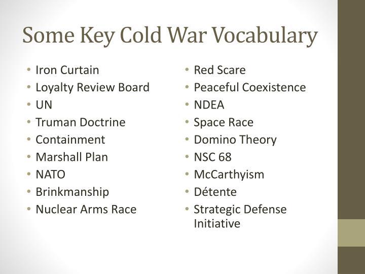 Some Key Cold War Vocabulary