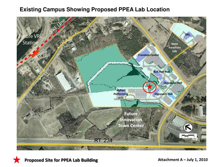 Existing Campus Showing Proposed PPEA Lab Location