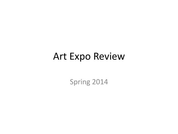 art expo review n.