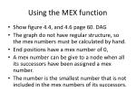 using the mex function