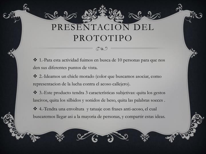 PRESENTACION DEL PROTOTIPO
