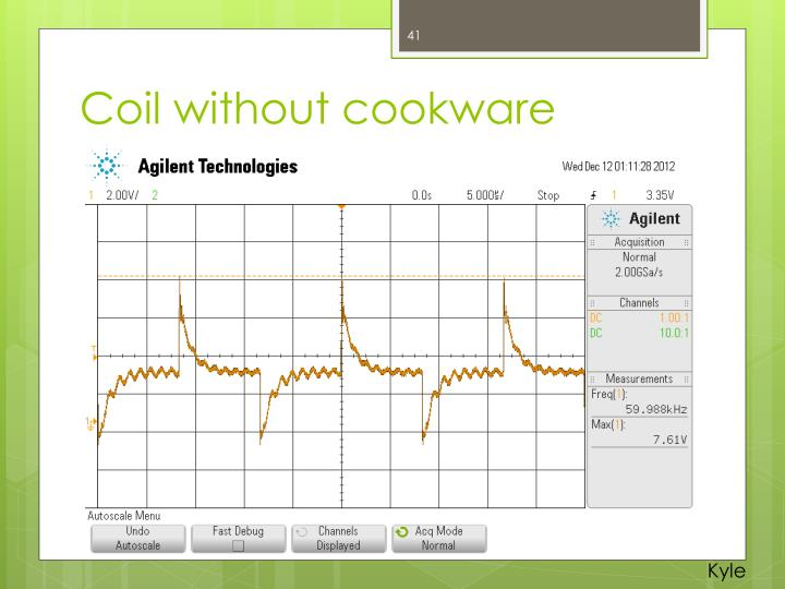 Coil without cookware
