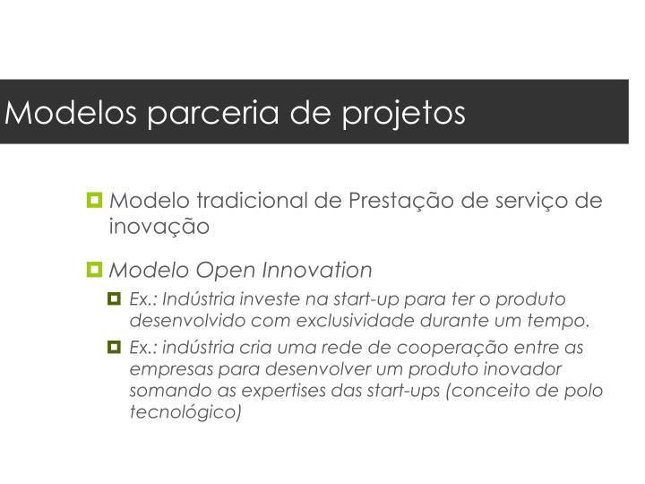 Modelos parceria de projetos