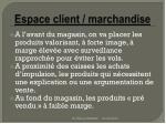 espace client marchandise