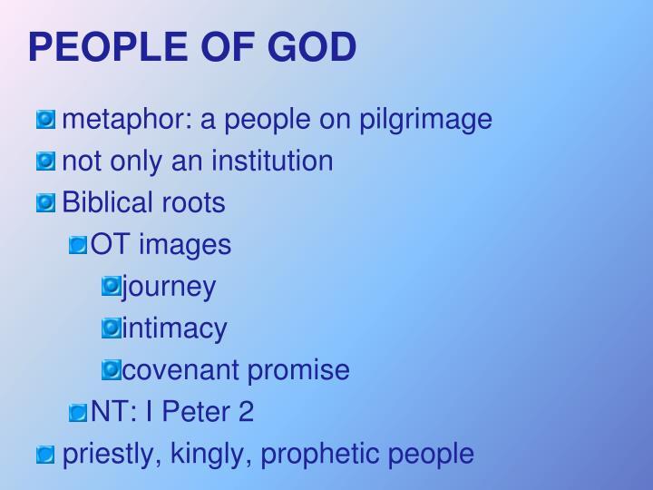 PEOPLE OF GOD