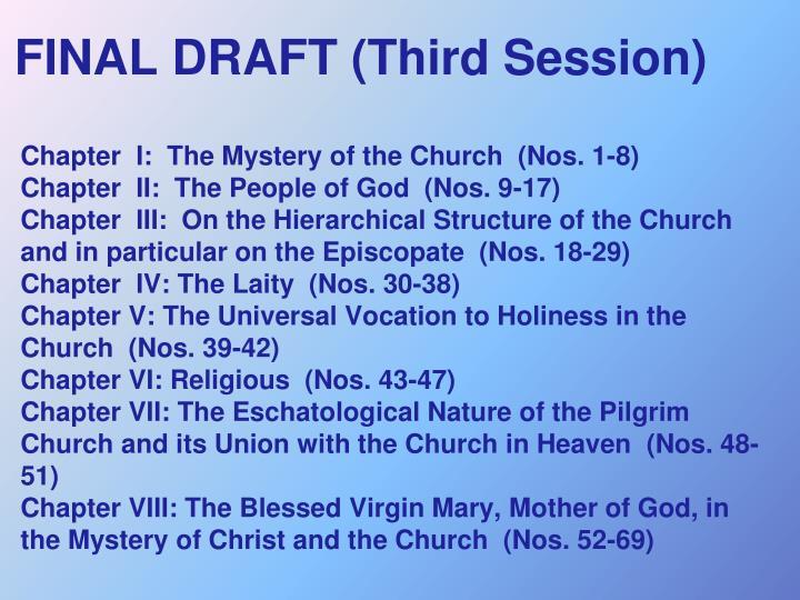FINAL DRAFT (Third Session)