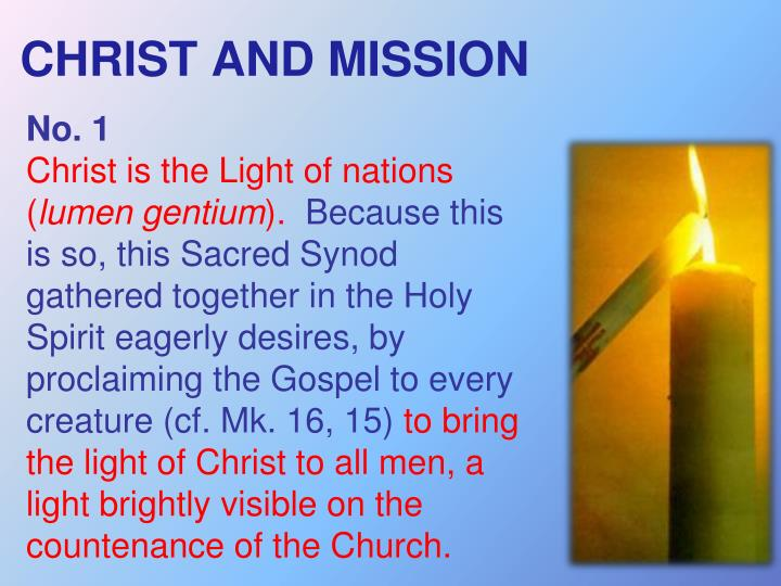 CHRIST AND MISSION