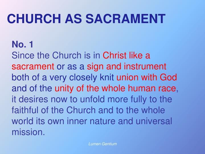CHURCH AS SACRAMENT