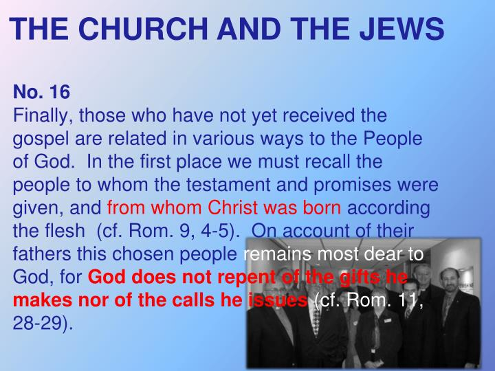 THE CHURCH AND THE JEWS
