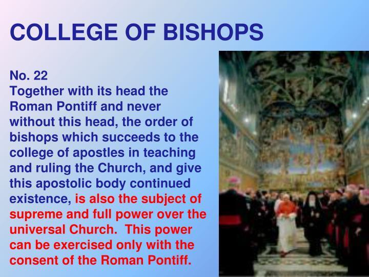 COLLEGE OF BISHOPS