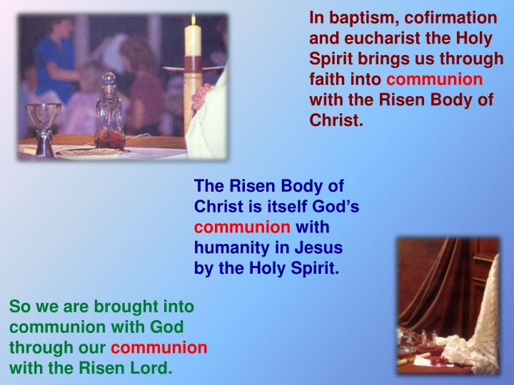 In baptism,