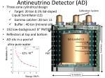 antineutrino detector ad