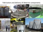 fabrication and delivery of detector components