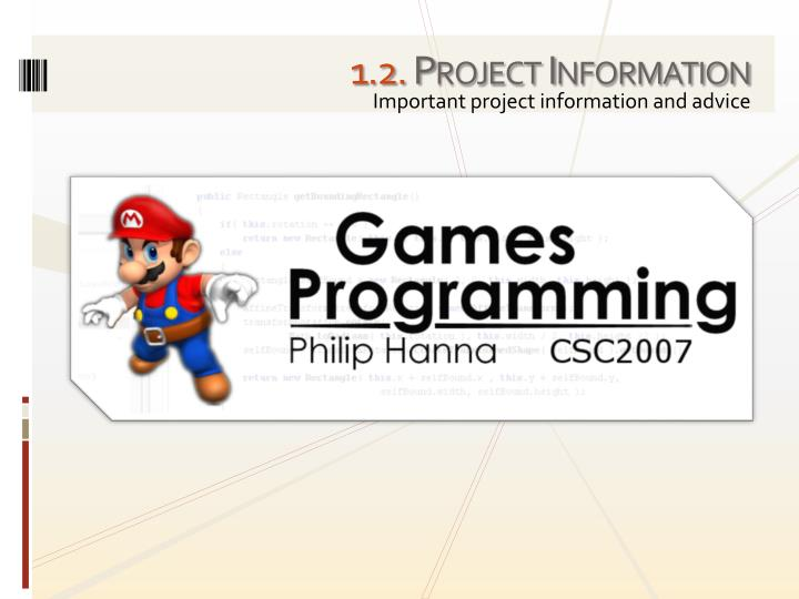 1 2 project information
