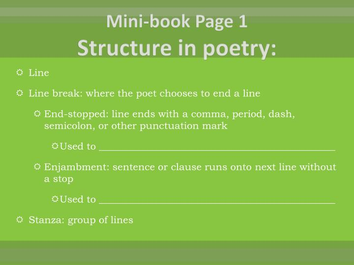 mini book page 1 structure in poetry n.