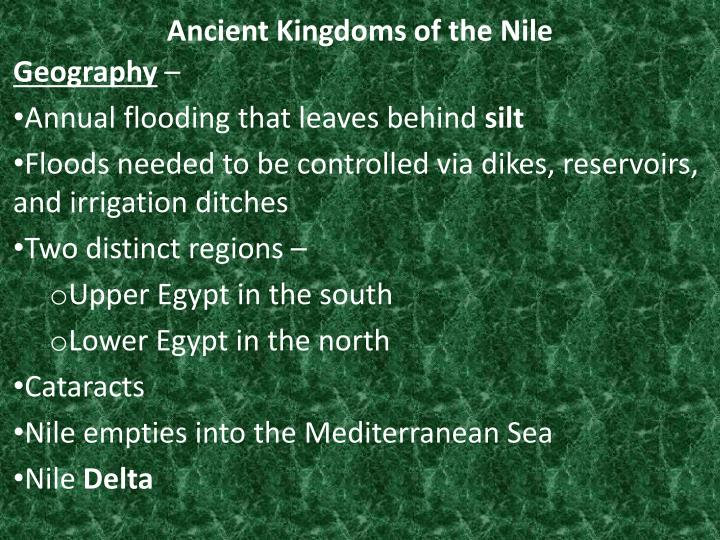 ancient kingdoms of the nile n.
