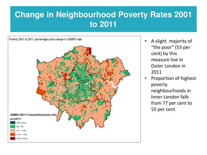 Change in Neighbourhood Poverty Rates 2001 to 2011