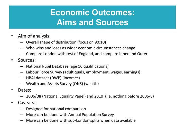Economic Outcomes: