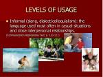 levels of usage3