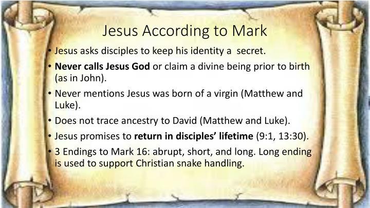 Jesus According to Mark