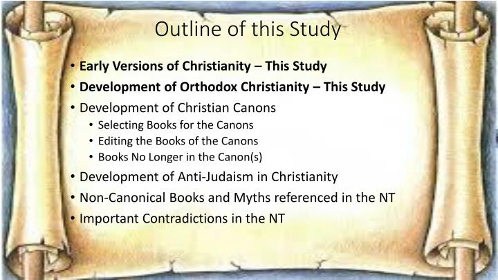 Outline of this study