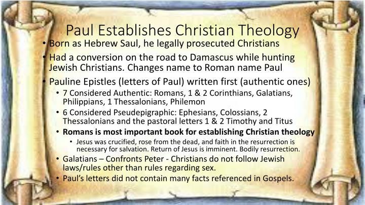 Paul Establishes Christian Theology