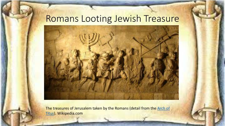 Romans Looting Jewish Treasure
