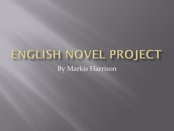 english novel project n.